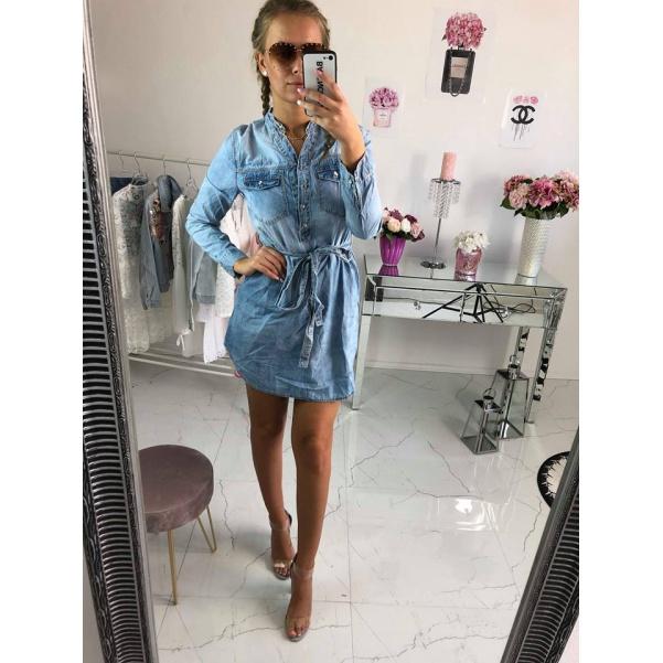 Luxusní riflové šaty/tunika