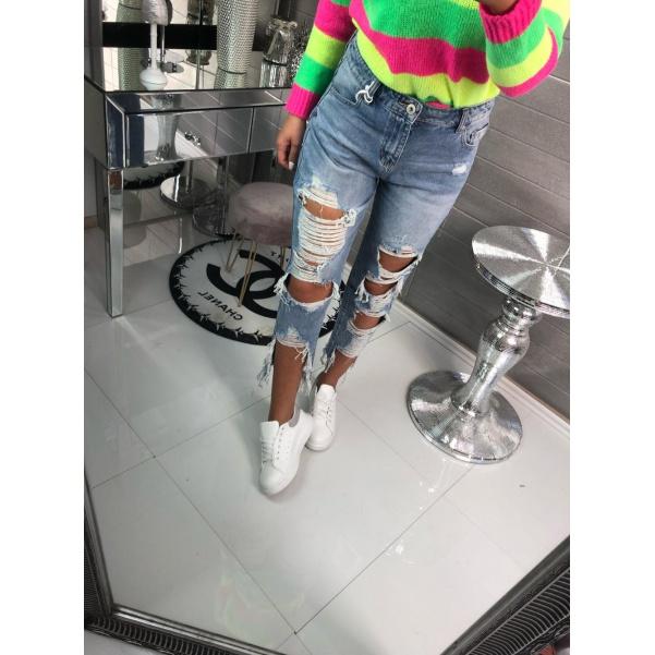 Stylové trhané jeans