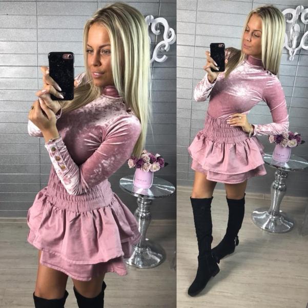 Volánková suknička PINK