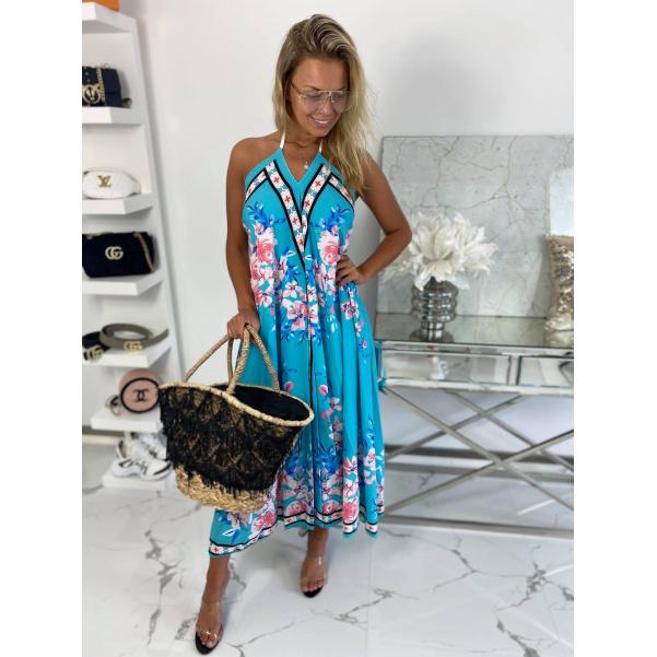 Šaty Summer tyrkysové