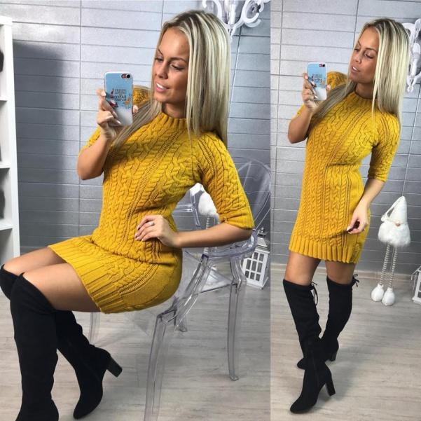 Svetříkové šatičky - Yellow