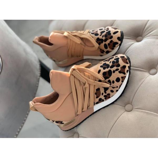 Leopardí tenisky - TOP Beige