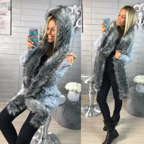 Luxusní svetr GREY