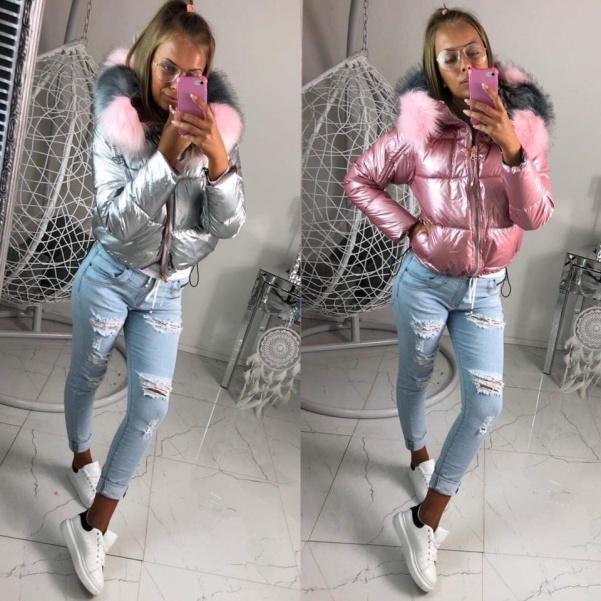 Luxusní oboustranná pink bunda
