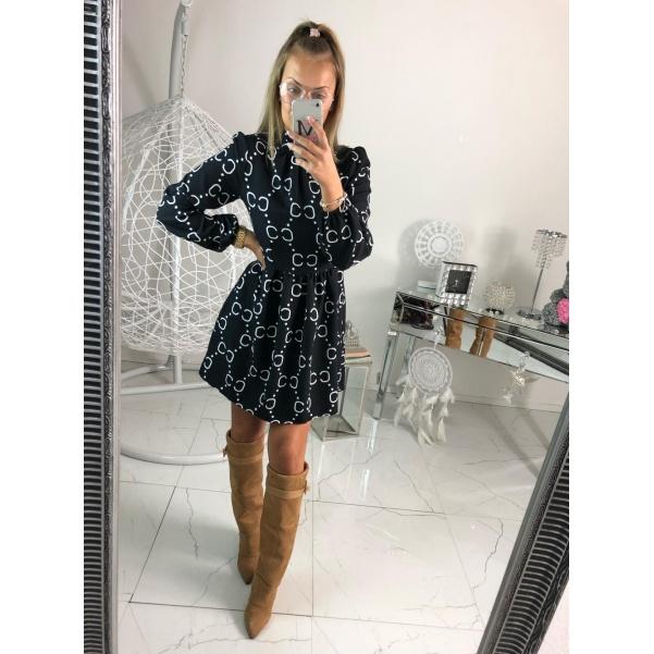 Šaty ala Gucci - černé