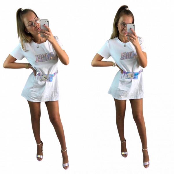 Long triko s ledvinou - bílé