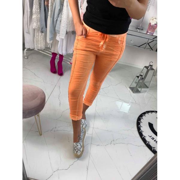 Neon kalhoty oranžové