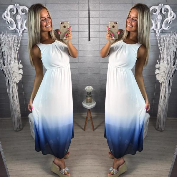 Šaty color - modré