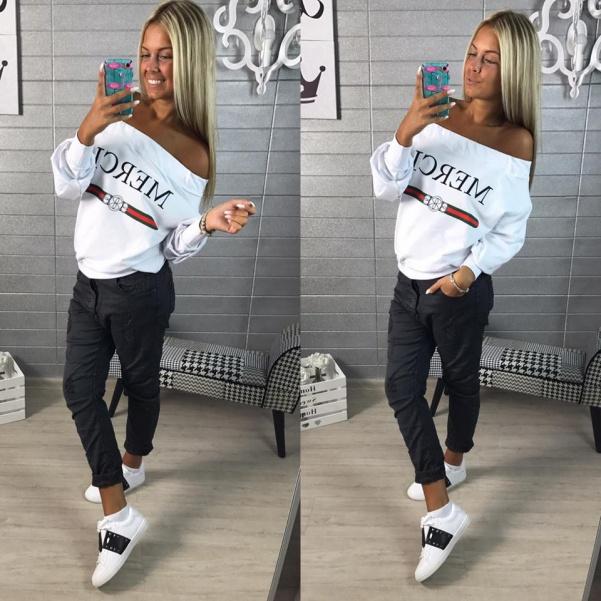 Mikinka ala Gucci - white