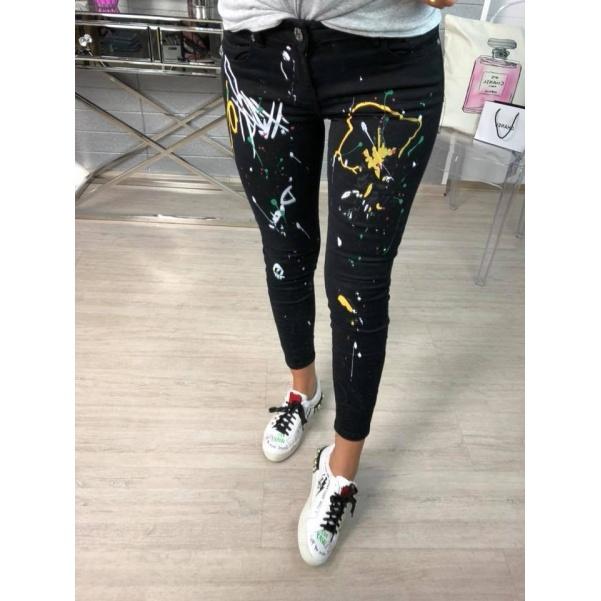 Úžasné color džíny černé