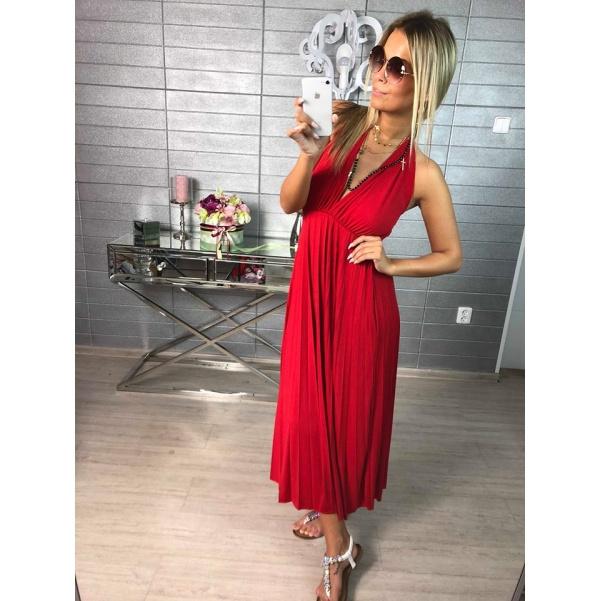 Pohodové šaty - Luissa  červená