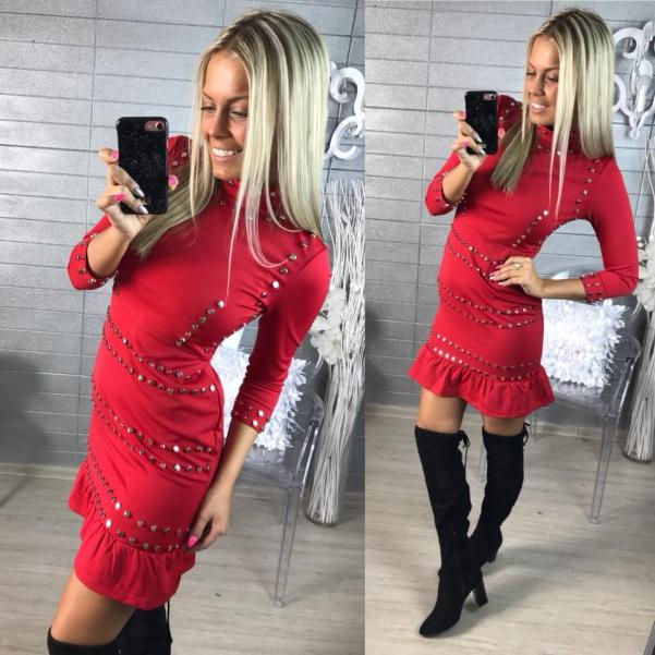 Krásné RED šatičky s cvočky