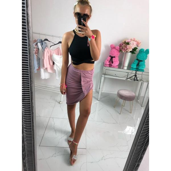 Asymetrická sukně - fialová