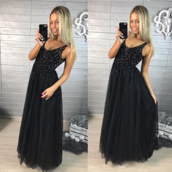 Černé šatičky s ozdůbkami