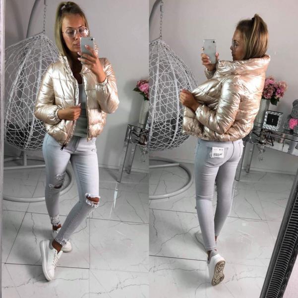 Zlatá zimní bunda