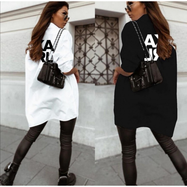 Dokonalé delší košile- Karlík bíla i černá