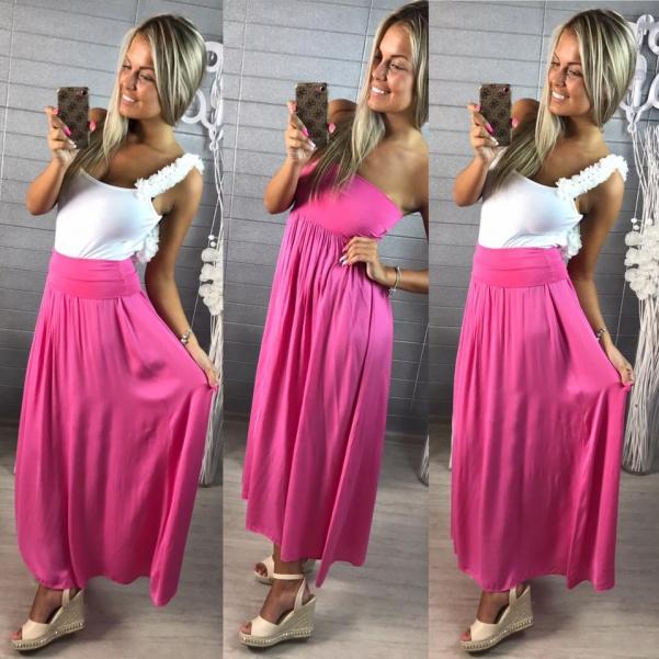 Šaty sukně v 1   růžové