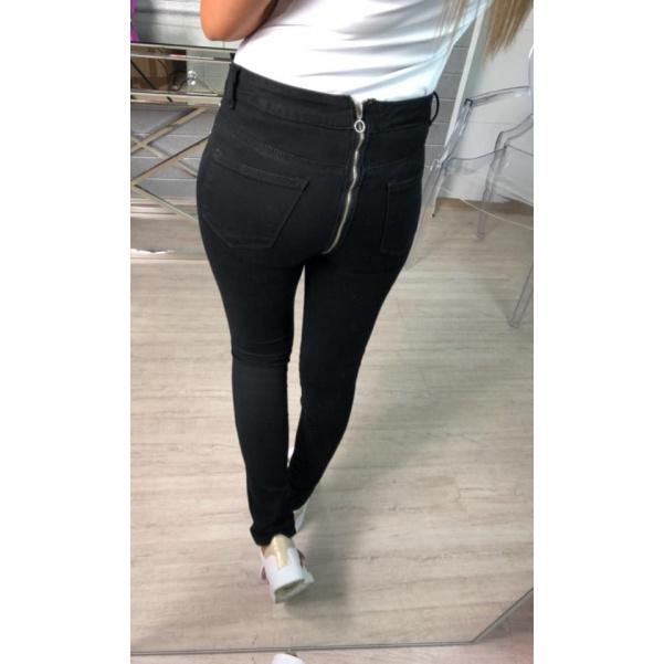 Black džíny se zadním zipem