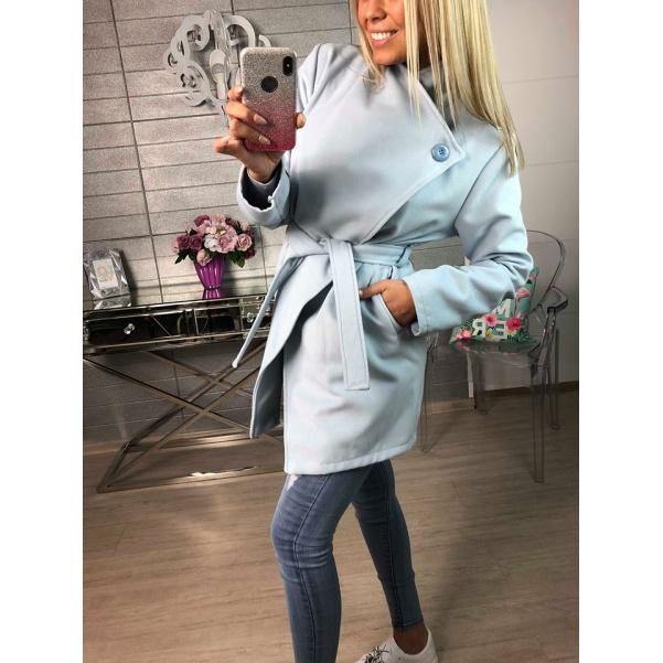 Flaušový kabátek - Modrý