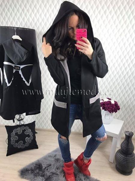 Top černý cardigan