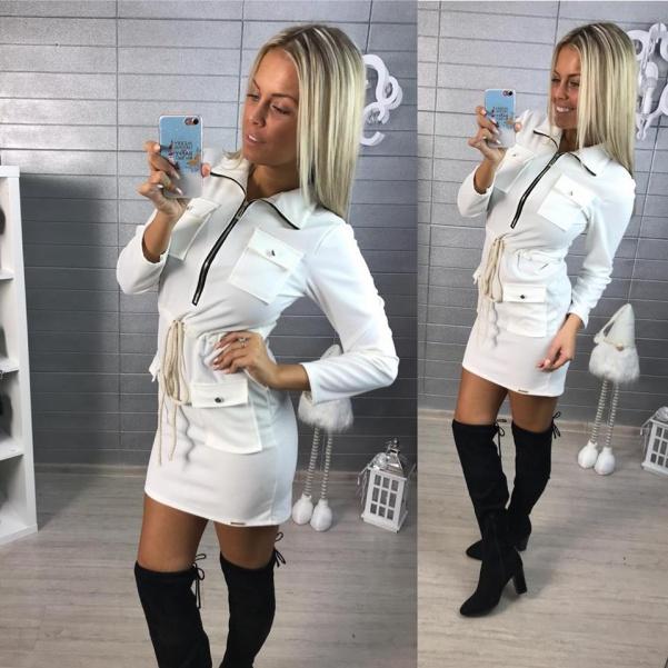 Oblíbené šatičky- white