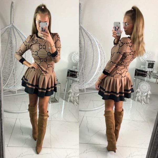Šaty - Guccis béžové