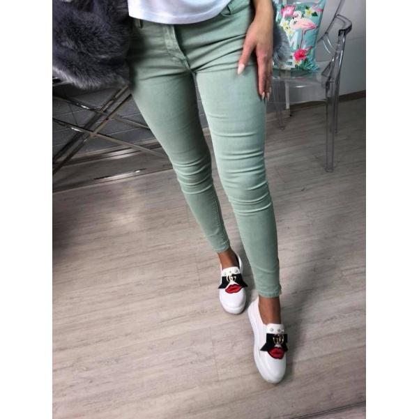 Slim fit džíny khaki