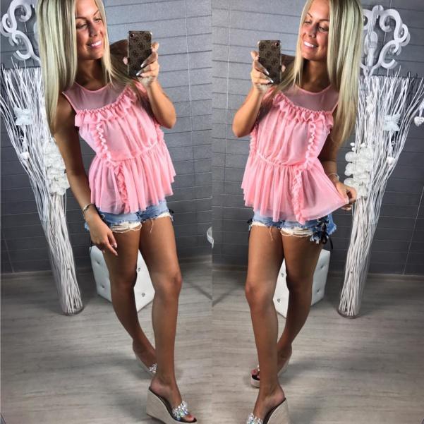 Lehounká pink halenka