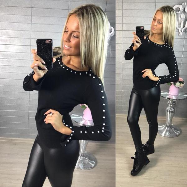 Černý svetr pearl
