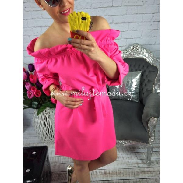 Růžové  neón šaty