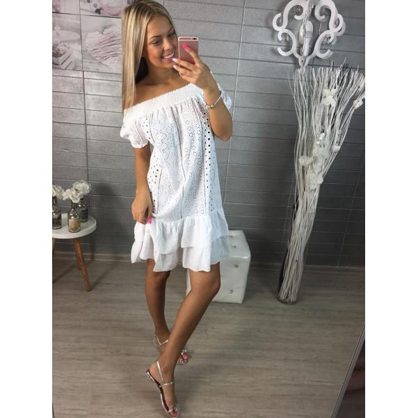 Bílé kraječkové šaty