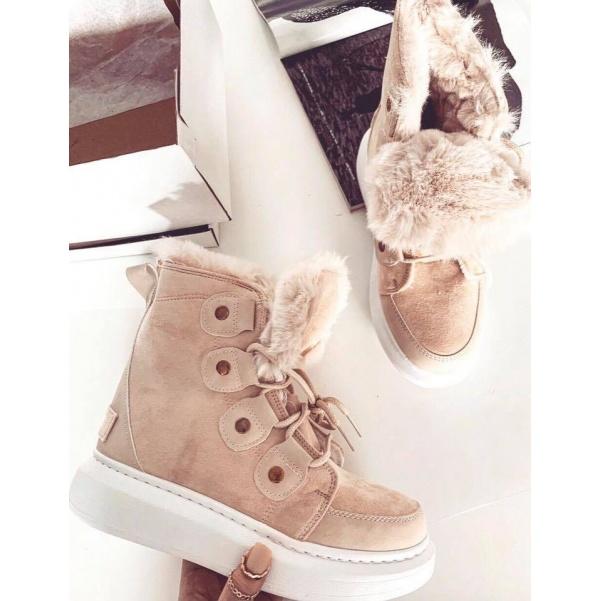 Kožíškové botičky - Capucino