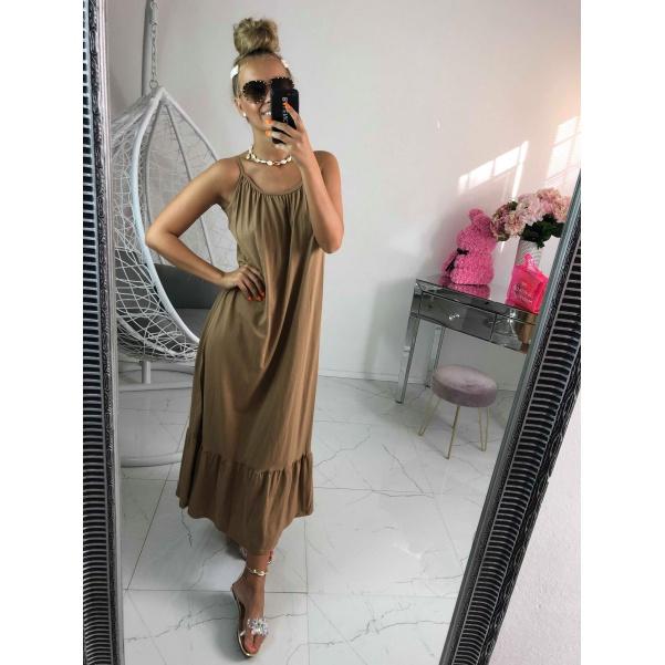 Maxi šaty - béžové