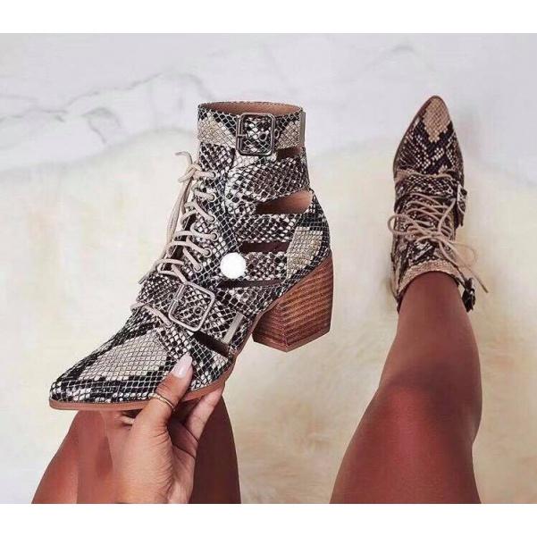 Luxusní kotníkové botky na podpatku
