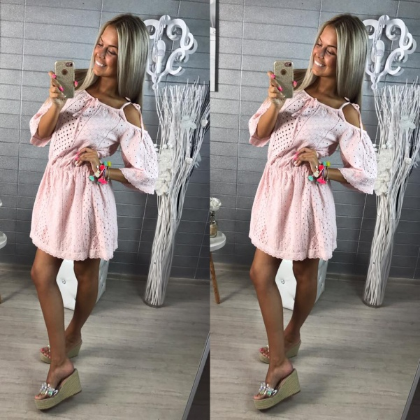 Nádherné oblíbené kraječkové šatičky-pink