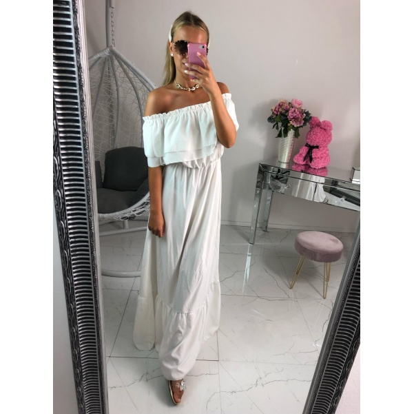 Bílé long šaty