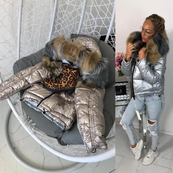 Luxusní oboustranná bunda s bohatým mega kožichem