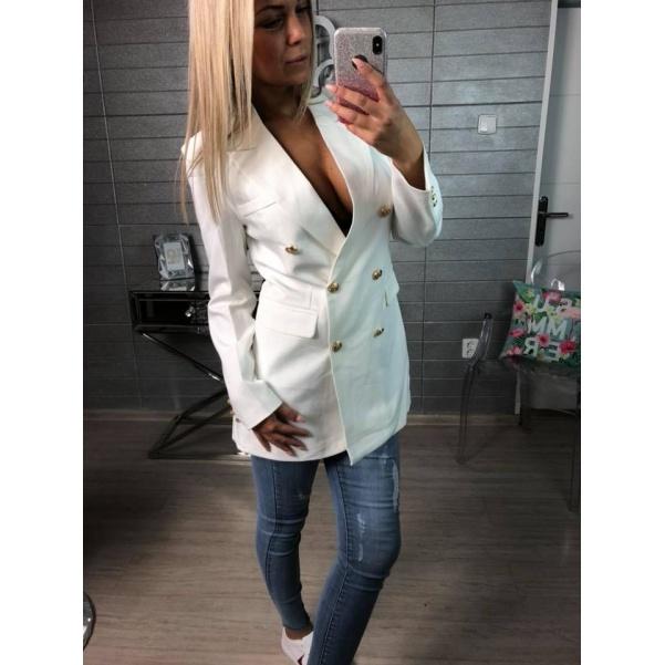 Long sako bílé