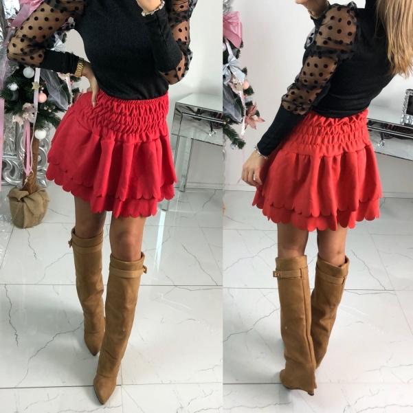 Volánková suknička - červená