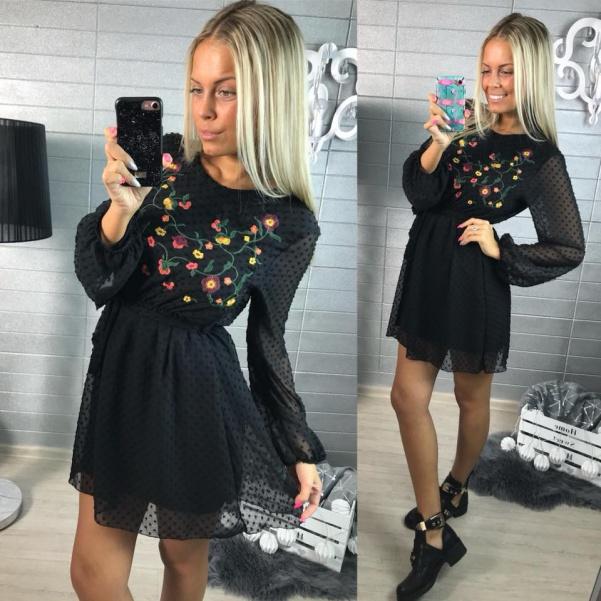 Černé šatičky - Flor