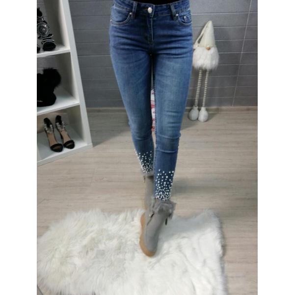 Blue džíny pearls