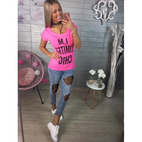 Růžové tričko CHIC