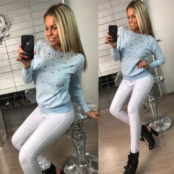 Bílé slim fit džíny