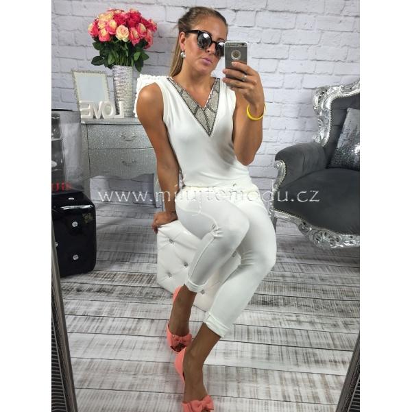 Luxusní bílý overal