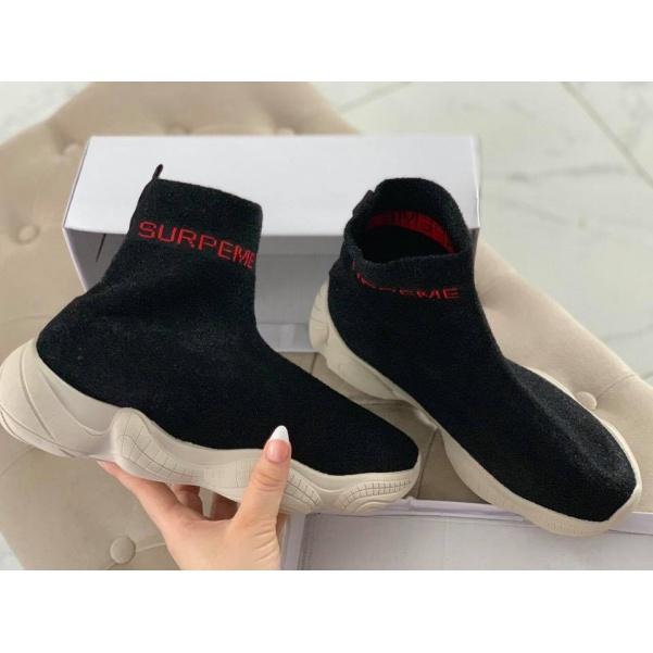 Ponožkové tenisky - SUPER black
