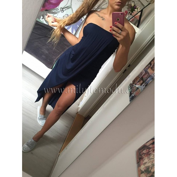 Pohodové modré šaty