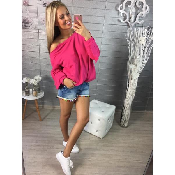 Dark pink mikina Extra