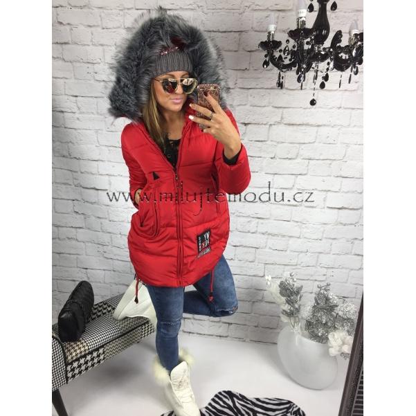 Červená zimní bunda MY POK