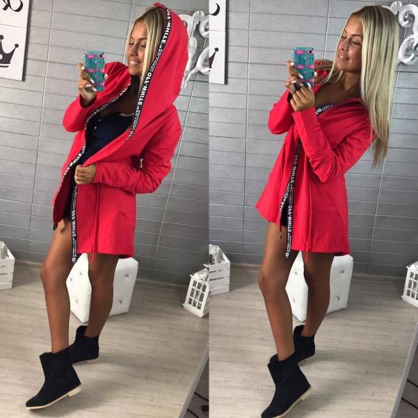 Červený cardigan
