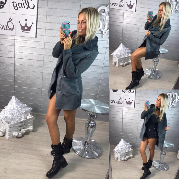Kabátek Shar šedý